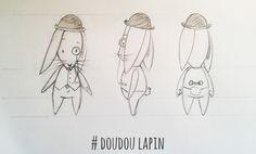 www.lespetitsbrins.com Illustration jeunesse - Croquis - Lapin