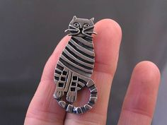 Cat Brooch Pin Cat Jewelry Cat Lover Gift Crazy Cat Lady