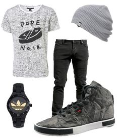 fall fashion, beenie, gray, black, white, skater, punk, Unstitched Utilities shoe