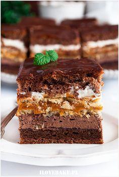 Sweet Desserts, Just Desserts, Sweet Recipes, Cake Recipes, Dessert Recipes, Tasty, Yummy Food, Sweets Cake, Polish Recipes
