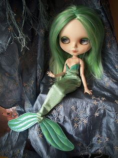 Ondine, the beauiful mermaid. Amazing custom by fifilatrixabel (not my picture, but my doll)