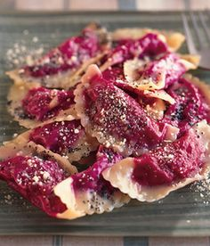 Beet Ravioli with Poppyseed Butter