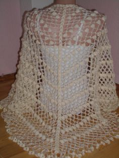 Cream silvery mohair  shawl by redrosewholesaler on Etsy
