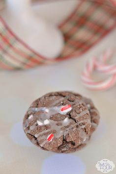 The perfect Christmas cookie: peppermint chocolate cake mix cookies! Easy to make and tastes amazing.