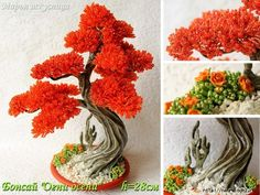 Seed Bead Flowers, French Beaded Flowers, Wire Flowers, Bonsai Art, Bonsai Garden, Flowering Bonsai Tree, Bonsai Trees, Ming Tree, Miniature Trees