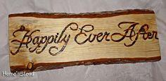 Wood Burned Custom Rustic Wedding Plaques Names by HomenStead, $25.00
