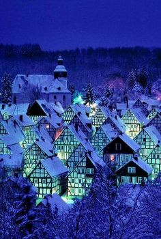 Freudenberg, North Rhine-Westphalia, Germany by Helmut - Winkel Places To Travel, Places To See, Places Around The World, Around The Worlds, Beautiful World, Beautiful Places, Winter Szenen, Winter Blue, North Rhine Westphalia