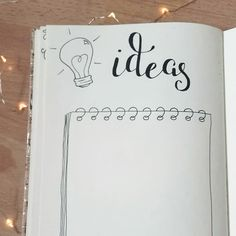 A page to gather the ideas  #bujoinspiration #bulletjournal #bujo #doodling #ideas