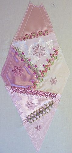 I ❤ crazy quilting, beading & ribbon embroidery . . . Gorgeous November 2012 CQJP Block ~By Susie W