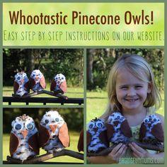 Cute Fall Craft Idea - Whootastic Pinecone Owls :).