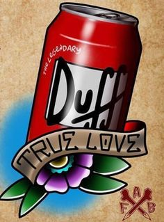 Duff Beer, The Simpsons Simpsons Art, Desenho New School, Duff Beer, Occult Tattoo, Funny Phone Wallpaper, Home Brewing Beer, Neo Traditional Tattoo, Cartoon Network Adventure Time, Dope Wallpapers