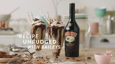 Burnt cake, no problem. Save the day with this sneaky treat trick by simply adding ice cream and Baileys for an indulgent chocolate dessert. To make, trim the burnt edges from the cake and discard. Cut the remaining cake into chunks and tip into a blender, leaving 2 tsps aside. Add 6 scoops of ice cream, 3 oz Baileys & 5 oz milk to the blender. Blend until smooth. Pour into large glasses and crumble over the remaining cake. Yummy Treats, Delicious Desserts, Dessert Recipes, Yummy Food, Tasty, Baileys Cake, Baileys Irish, Baileys Recipes, Cream Recipes