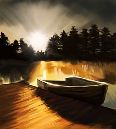 short sketch on photo  boat