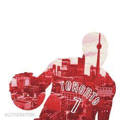 Toronto Raptors - Kyle Lowry. Credit to: @letsgoraptors on IG.
