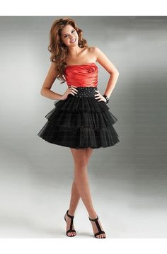 orange and black dress #cocktail #homecoming #dresses