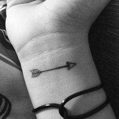 Small Arrow Tattoo On Wrist http://tattooideas22.com/small-arrow-tattoo-on-wrist/