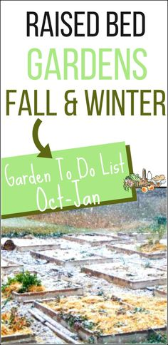 What do you plant in the raised bed garden in fall?  What about winter? Use this list of raised bed garden tasks for fall and winter. Homestead Lady.com #raisedbedgarden #homesteading #growyourown #homesteadfamily #squarefootgarden Garden Crafts, Garden Projects, Garden Ideas, Spring Projects, Raised Garden Beds, Raised Beds, Raised Gardens, Autumn Garden, Easy Garden