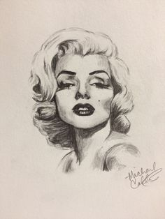 Marilyn Monroe Sketch by ~mcollins2012 on deviantART  | This image first pinned to Marilyn Monroe Art board, here: http://pinterest.com/fairbanksgrafix/marilyn-monroe-art/ || #Art #MarilynMonroe