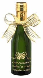 Mini Wine/Champagne Wedding Favor - Wedding Bells