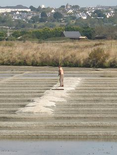 Salt pans between Guerande and Le Croisic