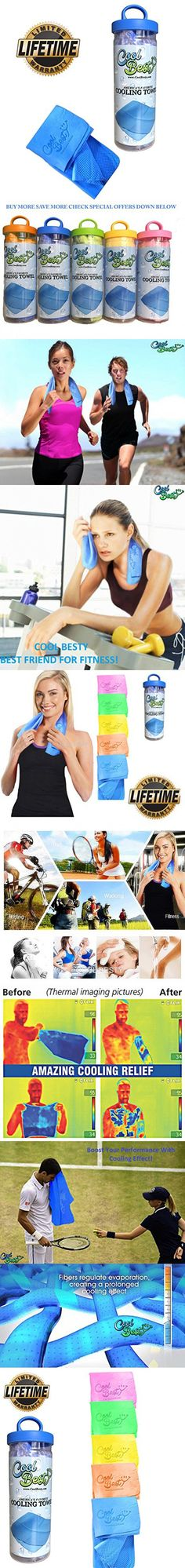 Cooling Towels - Workout / Tennis / Golf / Biking - Best For Any Sport Activities - Athletes Cold Towel - Chilly Pad By Cool Besty Instant Cooling Snap Towel - Perfect For Fitness & Gym - Blue