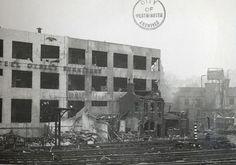 Photo:Rear of damaged Art Metal Company
