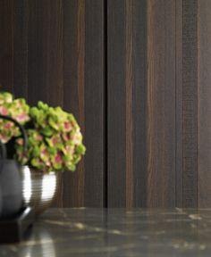 Zampieri - #Y kitchen. A detail of thermal vintage oak essence.