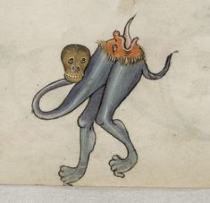 Grotesque Luttrell Psalter f. 27r detail - Luttrell Psalter - Wikipedia, the…