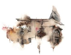 Amazing Watercolor Painting by Korean Artist Sunga Park Watercolor City, Watercolor Sketch, Watercolor Illustration, Watercolor Paintings, Watercolors, Watercolor Architecture, Art And Architecture, Fotografia Indiana, Zebra Art