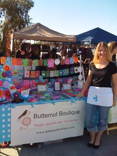 My first ever craft show table . . .