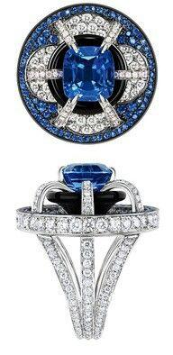 Luis Vuitton Place de la Concorde ring, diamond and sapphire I Love Jewelry, High Jewelry, Jewelry Rings, Jewelry Accessories, Jewelry Design, Jewellery, Bling Jewelry, Women Jewelry, Bling Bling