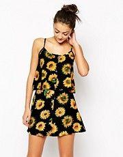 Motel Isadora Swing Cami in Sunflower Print