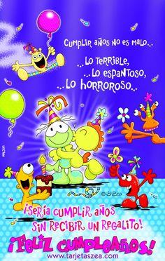 Jajajaja! Happy Birthday Video, Happy Birthday Wishes, Birthday Greetings, Birthday Cards, Cute Words, Happy Birthday Candles, Hearts And Roses, Birthday Quotes, Happy Day