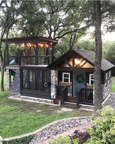 61 ideas garden ideas cottage tiny house for 2019 – Dream House Small Dream Homes, My Dream Home, Tiny Homes, Cabin Homes, Dream Kids, Tiny Cabins, Tiny Cottages, Log Cabins, Building For Kids