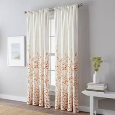 """Meadow 84-Inch Rod Pocket Window Curtain Panel In Coral 84"""" Panel"""