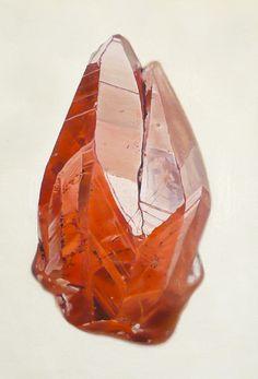 Peintures hyper-réalistes de gemmes et minéraux - (Hyper-realistic paintings of gems and minerals)