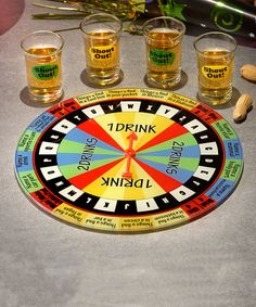 Game night just got a lot more interesting! This set includes shot glasses that encourage players to loosen up and enjoy the excellent company and fine spirits.