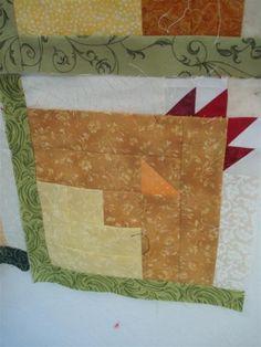 Chicken soup scrap quilt blocks | Janice Jenney Studios