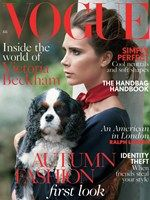 Love this British Vogue cover. Victoria Beckham really haven't aged. And the pup is too adorable.
