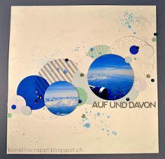 Layout blau weiss Auf und davon Scrapbooking, Layout, Movies, Movie Posters, Art, Blue, Art Background, Page Layout, Film Poster