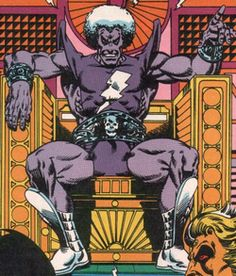 Magus The evil doppleganger of Adam Warlock, Magus believes Good and Evil are tools to chain sentient beings. His goal is to give all lifeforms a purpose: To Worship him or Die. Comic Books Art, Comic Art, Book Art, Captain Marvel, Marvel Dc, Jim Starlin, Adam Warlock, Thanos Marvel, Marvel Villains