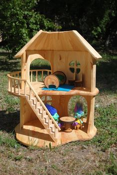 Items similar to Dollhouse - Handmade wooden DollHouse - doll house - dollhouses - wood dollhouse on Etsy Wooden Dollhouse, Wooden Dolls, Dollhouse Dolls, Dollhouse Furniture, Wooden Diy, Handmade Wooden, Grinch Yard Decorations, Equestrian Decor, Handmade Home