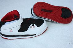 TODDLER SIZE 10C NIKE AIR JORDAN SC-1 HIGH TOP WHITE/BLACK/RED SHOES *NEW*
