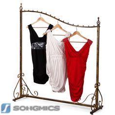 Songmics Kleiderständer Kleiderstange Garderobenständer Ladeneinrichtung HRA001
