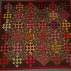 """This is a raffle for the """"Living Water Quilt"""" shown in the pictures. (named by one of my blog readers!)    The quilt measures 102"""" x 102"""". I took the first picture leaning off the top of the staircase.  King size with wool blend batting. ..."""
