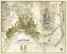 Cape Town Map Vintage South African Atlas Poster Cape Town Street Map 1884 Bar Den Wall Art Slightly aged finish, retaining the aged character of the original. One of a large collection of remastered vintage art posters I have for sale. Vintage Maps, Antique Maps, Vintage Metal, Cape Colony, African Map, African History, Underground Tour, Cities, Cape Town South Africa