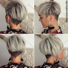 Cutest Short Blonde Pixie Haircut Styles for 2018 Pixie Haircut Styles, Short Haircuts With Bangs, Longer Pixie Haircut, Long Pixie Hairstyles, Short Hairstyles For Women, Hairstyles Haircuts, Short Hair Cuts, Short Hair Styles, Pixie Cuts