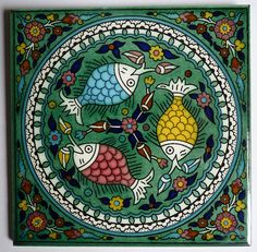 armenian-ceramic-tile-green-fish by Pangea Home Collections, via Flickr