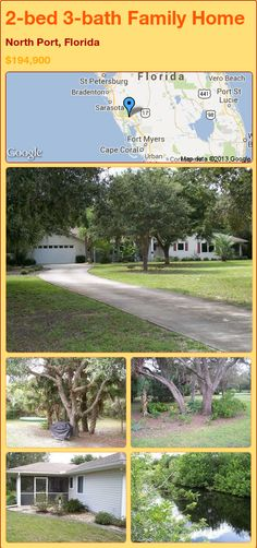 2-bed 3-bath Family Home in North Port, Florida ►$194,900 #PropertyForSale #RealEstate #Florida http://florida-magic.com/properties/21154-family-home-for-sale-in-north-port-florida-with-2-bedroom-3-bathroom