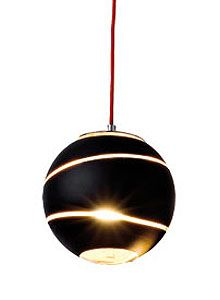 Terzani Bond Modern Pendant Lamp In A Black Outer Finish In All Sizes